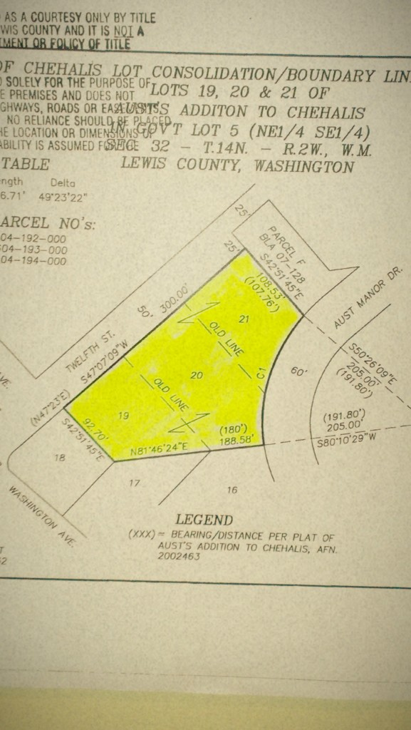 Land for Sale, ListingId:27665184, location: 52-Se 12th St Chehalis 98532