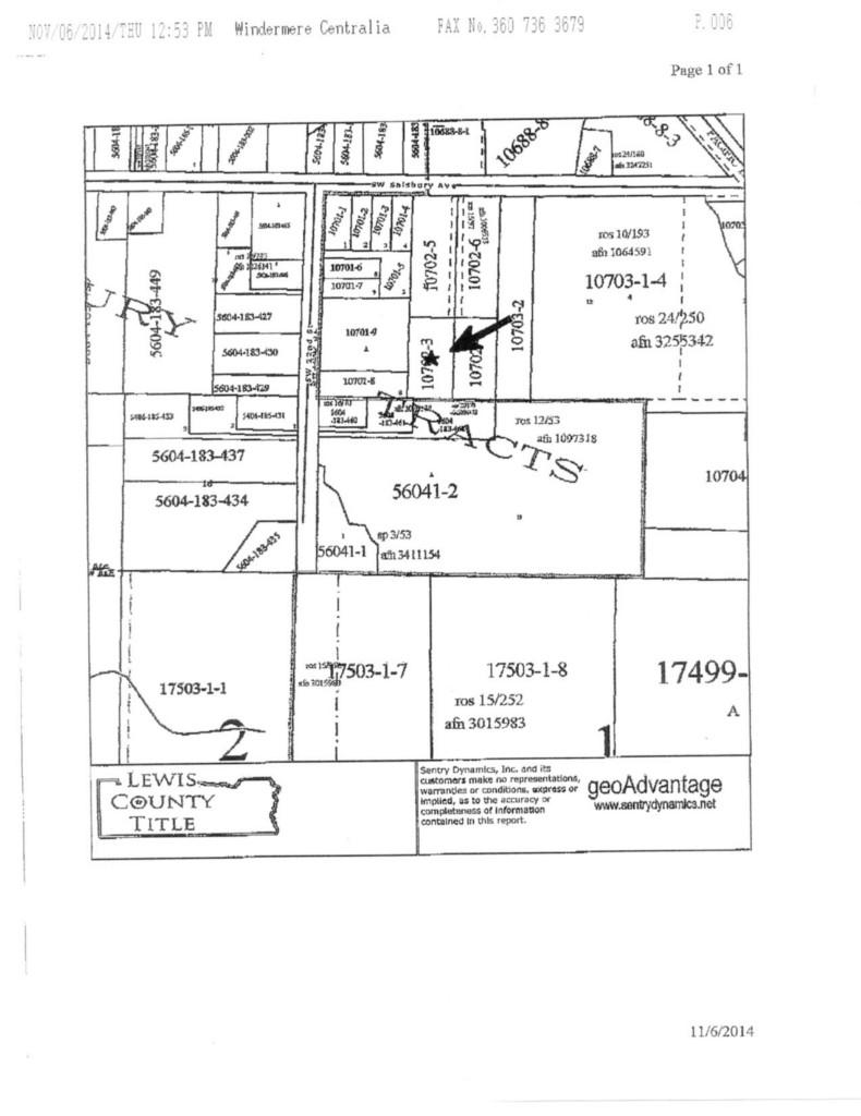 Land for Sale, ListingId:30575658, location: -0 SW Salsbury Ave Chehalis 98532