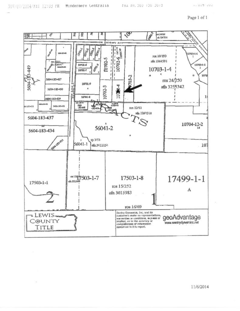 Land for Sale, ListingId:30565561, location: -0 SW Salsbury Ave Chehalis 98532