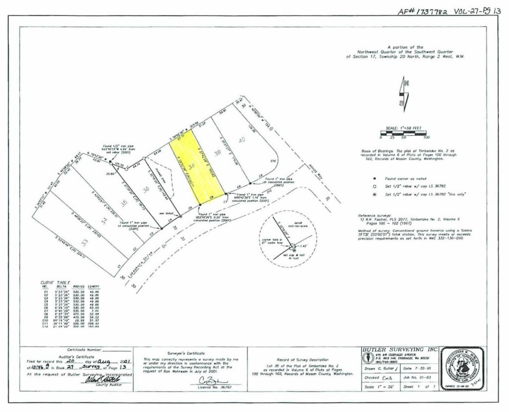 Land for Sale, ListingId:34581179, location: 601 E Lakeshore Dr E Shelton 98584