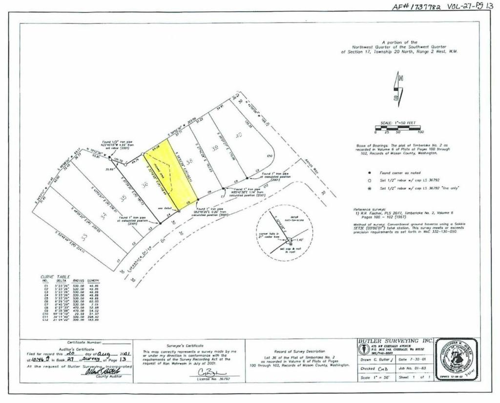 Land for Sale, ListingId:34581178, location: 591 E Lakeshore Dr E Shelton 98584